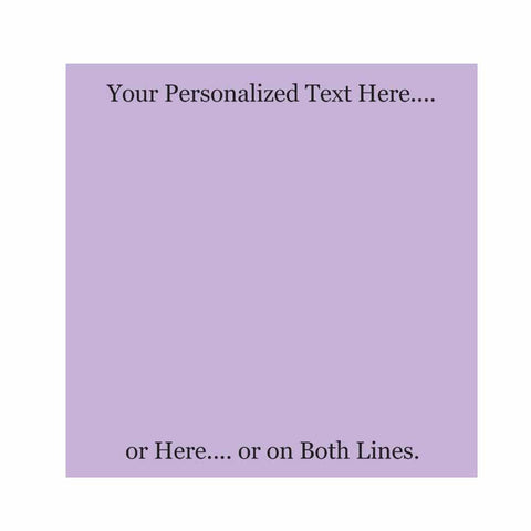 Lavender Sticky Notes - Set of 3 - Blank or Personalized