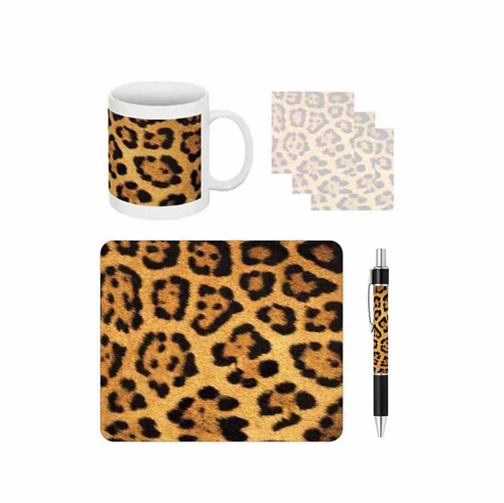 Leopard Print Desk Gift Set