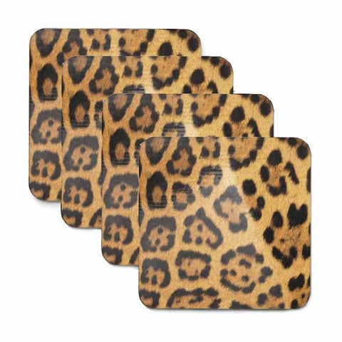 Leopard Print Coaster Set