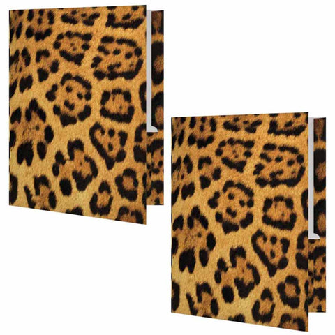 Leopard Print Folder - Set of 2
