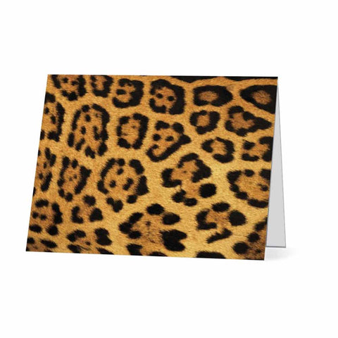 Leopard Print Blank Note Card Set - Boxed