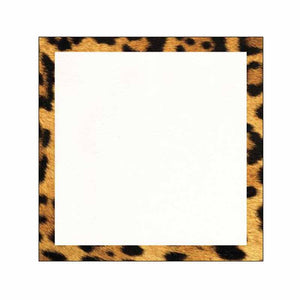 Leopard Print Border Sticky Notes