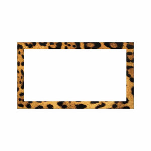 Leopard Print Place Cards - Flat Style