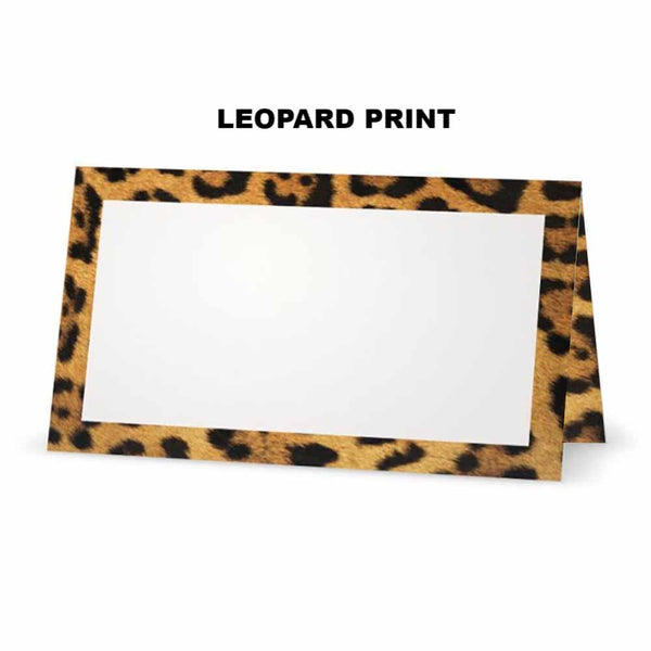 Leopard Print Place Cards - Tent Style