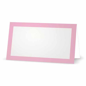 Light Pink Place Cards - Tent Style