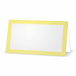 Lemon Yellow Place Cards