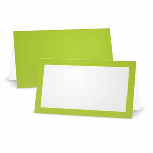Lime Place Cards - Tent Style
