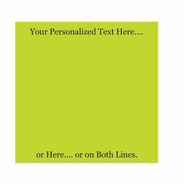 Lime Sticky Notes - Blank or Personalized - Set of 3