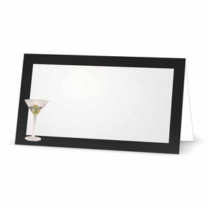 Martini Place Cards  - Tent Style - SELECT COLOR