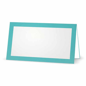 Misty Blue Place Cards - Tent Style
