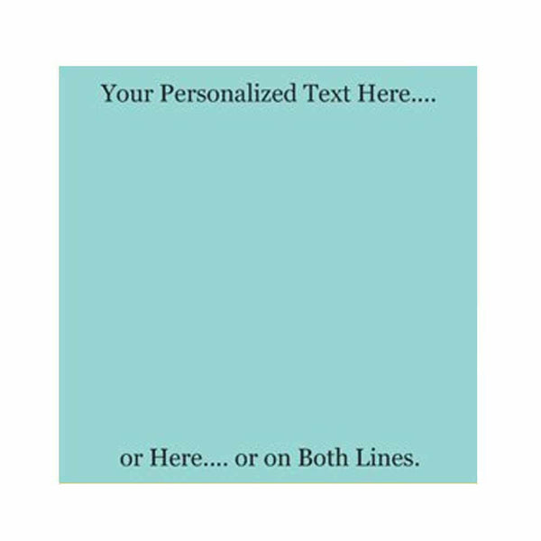 Misty Blue Sticky Notes - Set of 3 - Blank or Personalized