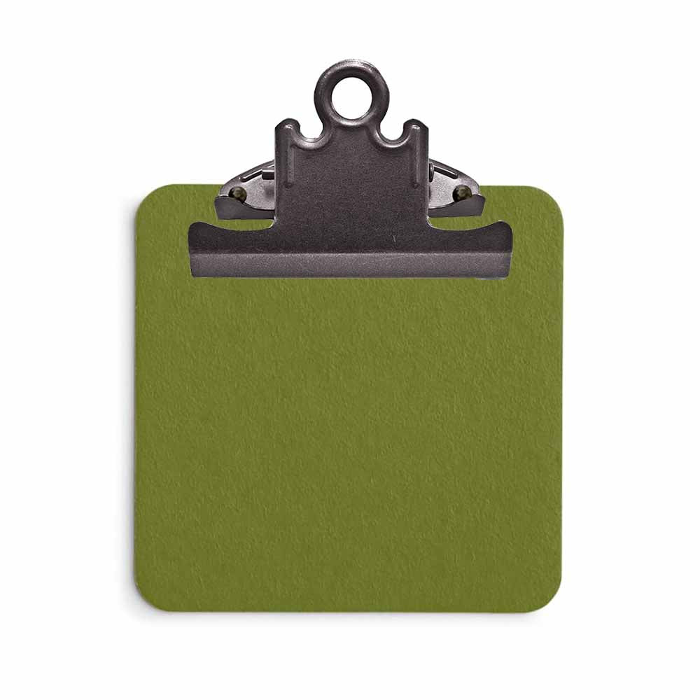 Olive Green Sticky Note Clipboard