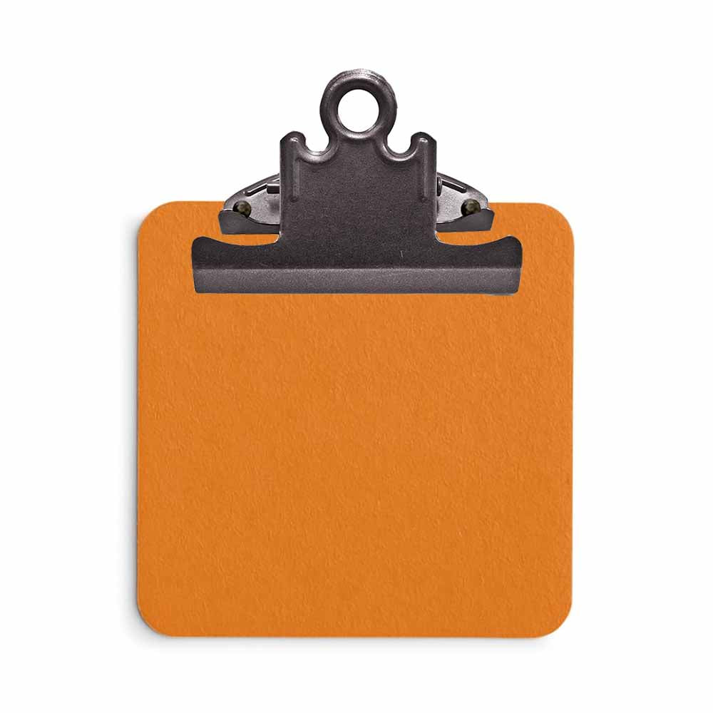 Sticky Note Clipboard - Orange