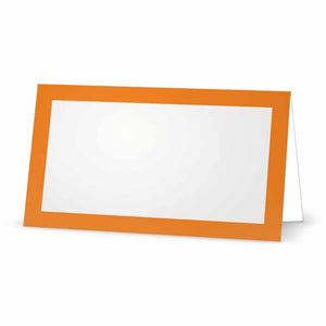Orange Place Cards - Tent Style