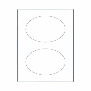 "4"" x 6"" Labels - Oval Labels - SELECT COLOR"