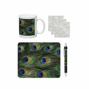 Peacock Print Desk Gift Set