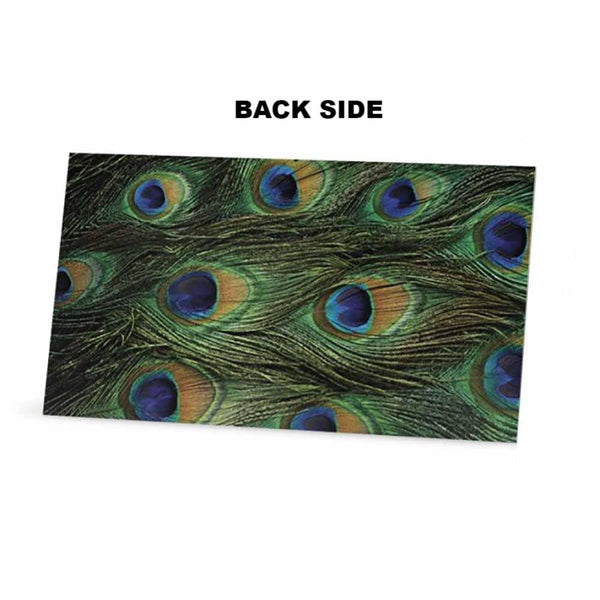 Peacock Print Place Cards - Tent Style