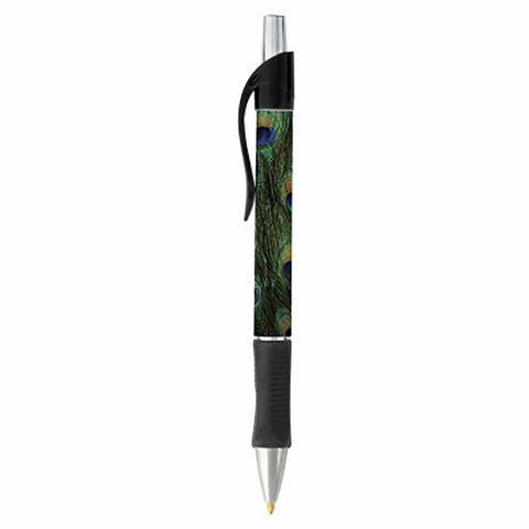 Peacock Print Ballpoint Pen - SELECT INK COLOR