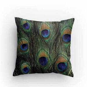 Peacock Print Pillow