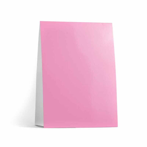 Pink Table Tent Cards