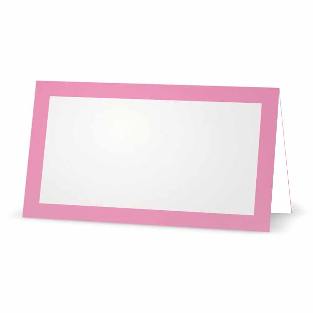 Pink Place Cards - Tent Style