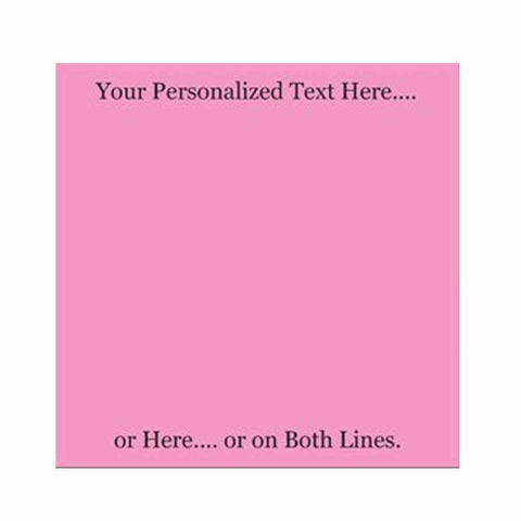 Pink Sticky Notes - Set of 3 - Blank or Personalized