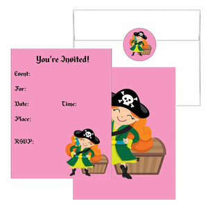 Pirate Girl Invitations