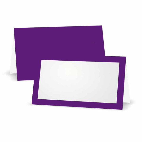 Purple Place Cards - Tent Style