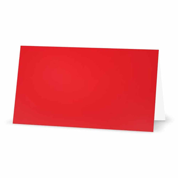 Red Place Cards -  Tent Style