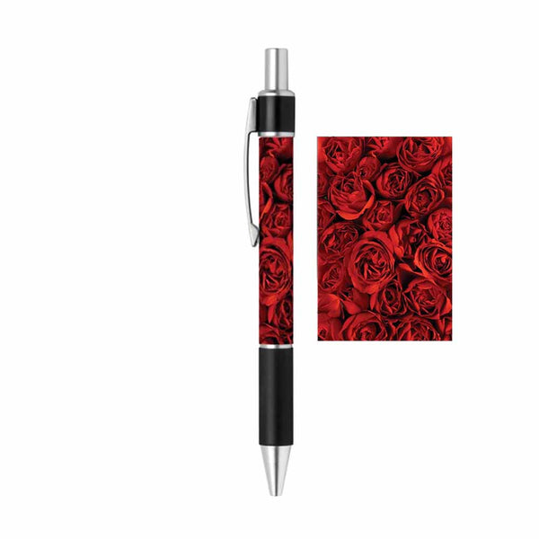 Red Roses Writing Ink Pen