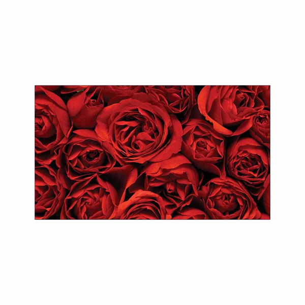 Red Roses Place Cards - Flat Style