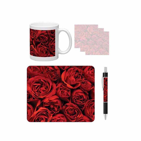 Red Roses Desk Gift Set