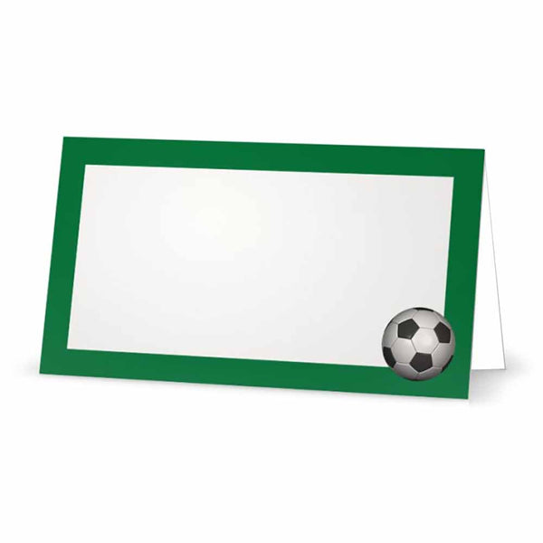 Soccer Ball Place Cards  - Tent Style - SELECT COLOR