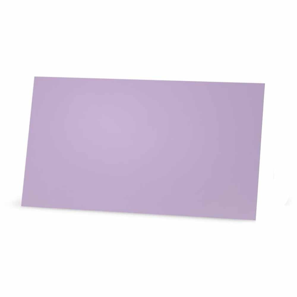 Solid Lavender Place Cards - Flat Style