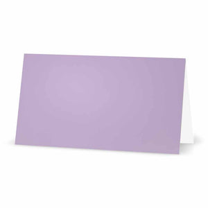 Solid Lavender Place Cards - Tent Style