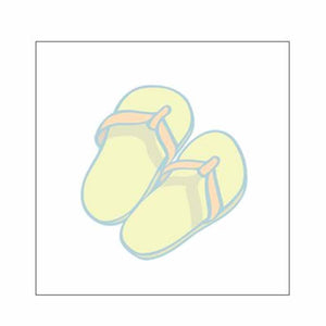 Flip Flops Sticky Notes - Set of 3 - Blank or Personalized