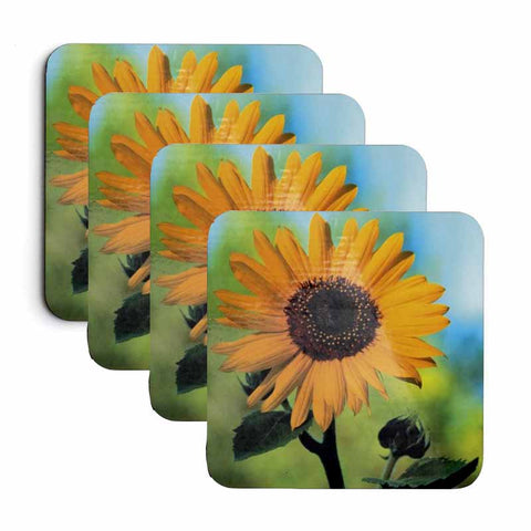 Sunflower Coaster Set