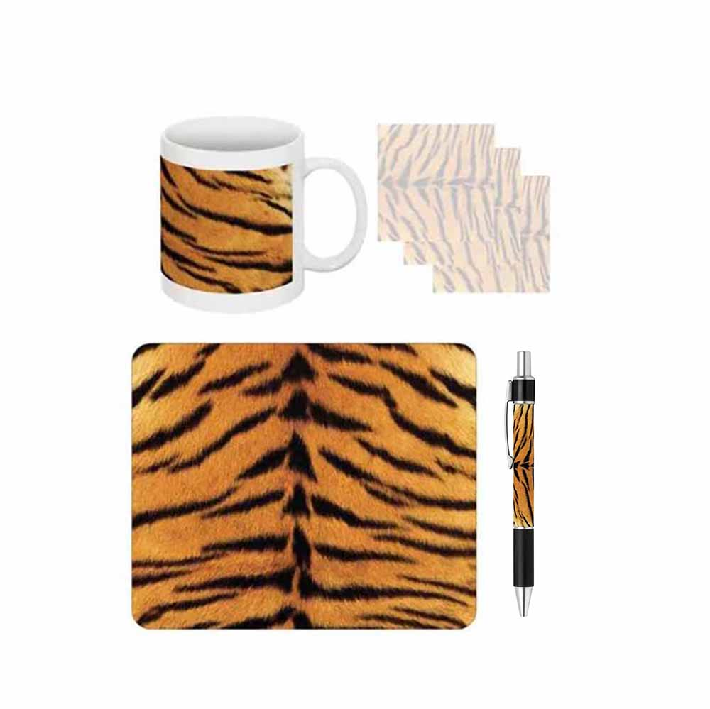 Tiger Print Desk Gift Set