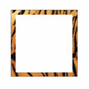 Tiger Print Border Sticky Notes