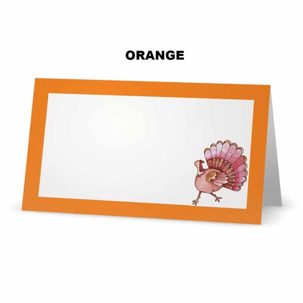 Turkey Place Cards   Tent Style - SELECT COLOR