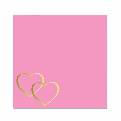 Two Gold Hearts Sticky Notes
