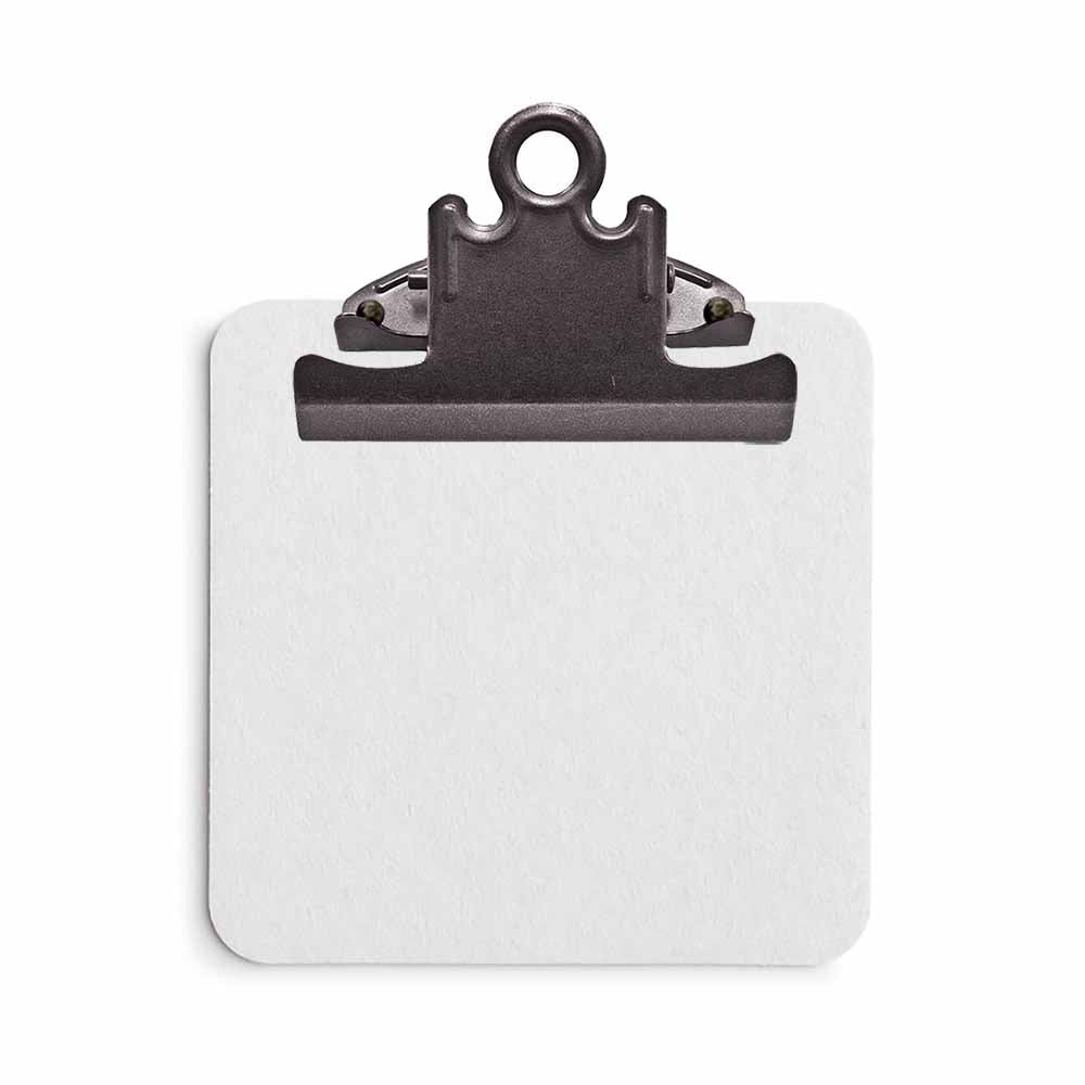 White Sticky Note Clipboard