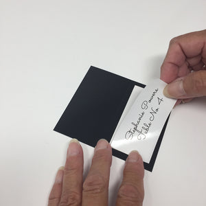 "Labels for Place Cards with Borders - 3"" x 1.5"" - WHITE GLOSS"