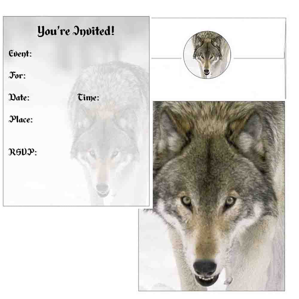 Wolf Face Invitations