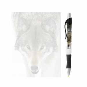 Wolf Face Note Pad and Pen Set