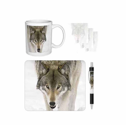 Wolf Face Desk Gift Set