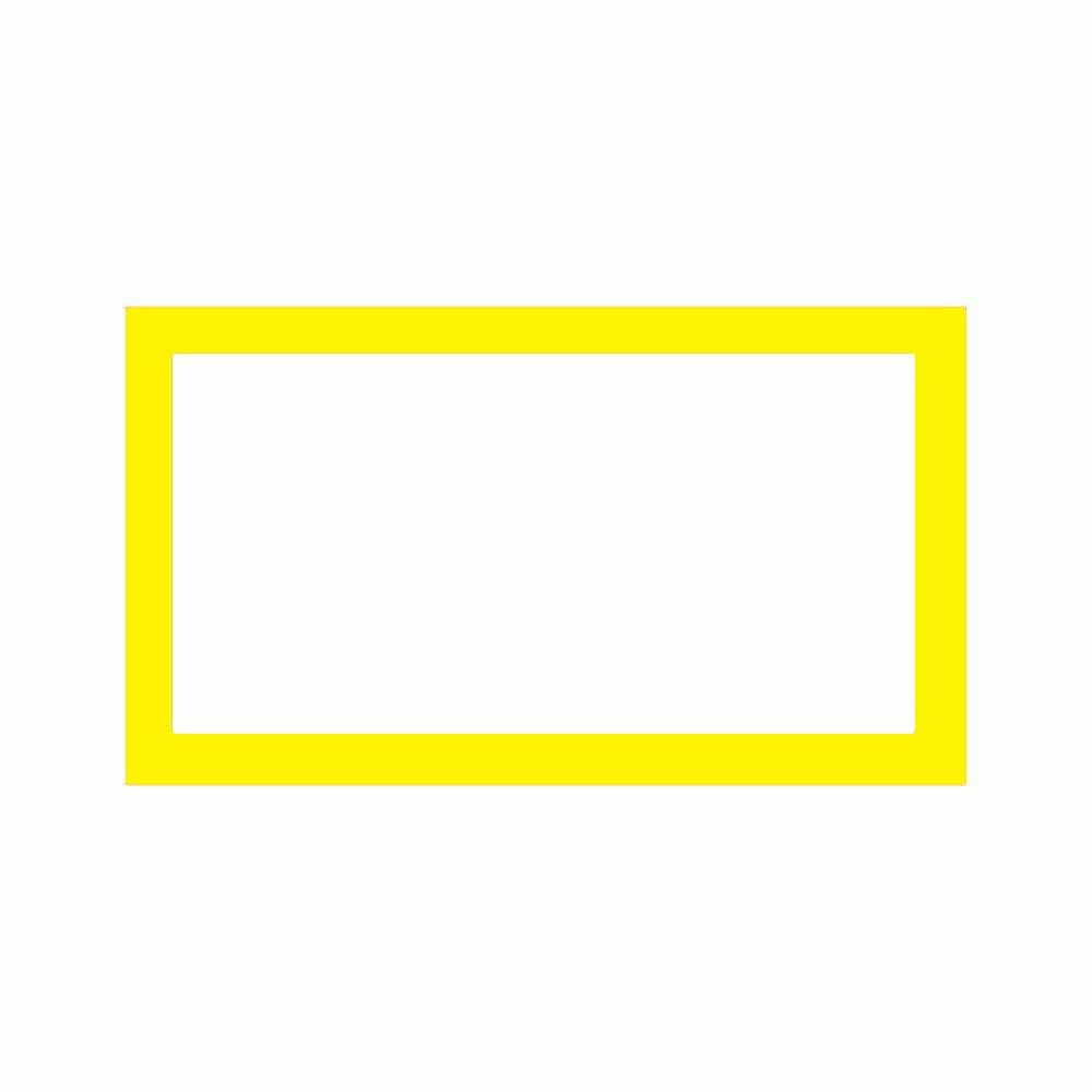 Yellow Place Cards - Flat Style