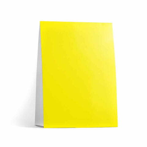 Yellow Table Tent Cards