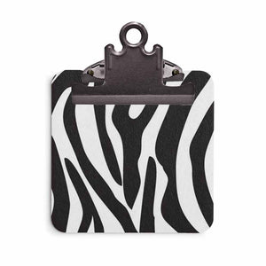 Sticky Note Clipboard - Zebra Animal Print