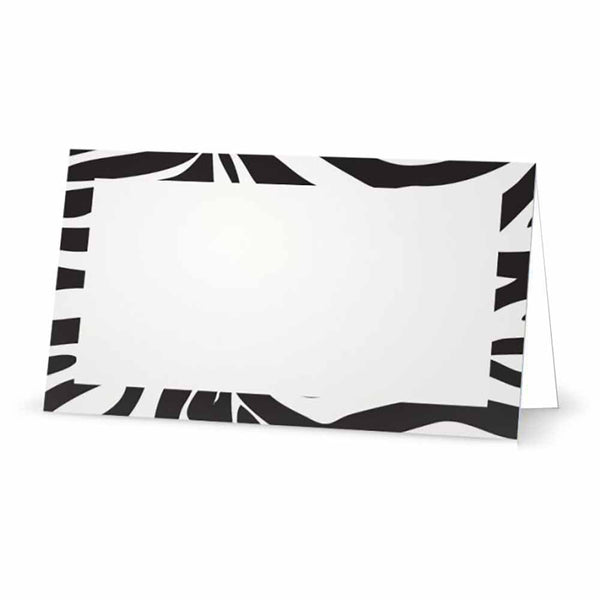 Zebra Print Place Cards - Tent Style